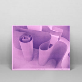 Corrugated Pink Risograph Print, Poster