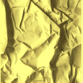 yellow paper with shading for 3d effect.