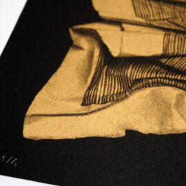 Cem Kocyildirim, risograph printing, Brooklyn, metallic gold riso ink. detail