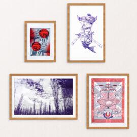 Art Print Subscription on wall, framed