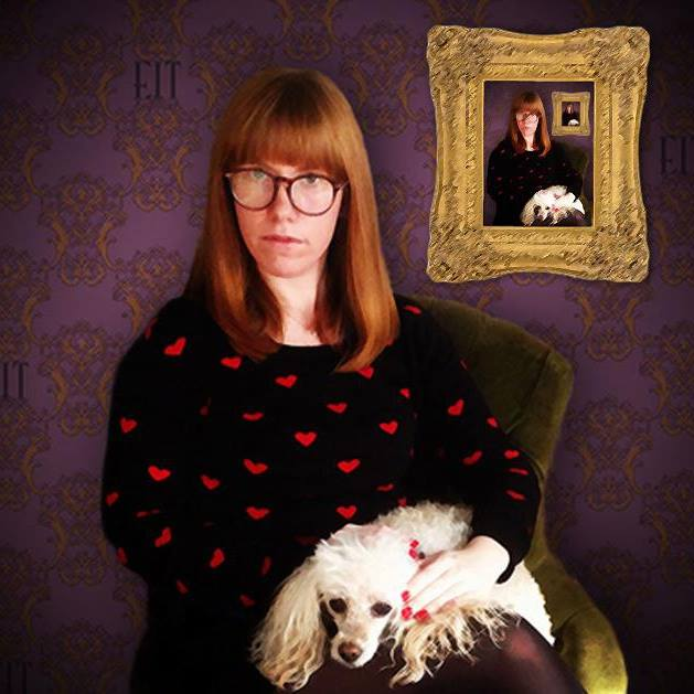Elizabeth Tolson and her toy poodle, Annie