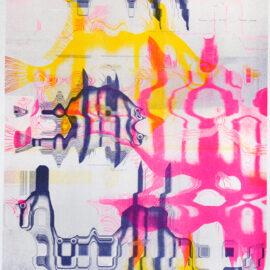 Derrick Schultz Anthropecene Risograph - Triptych
