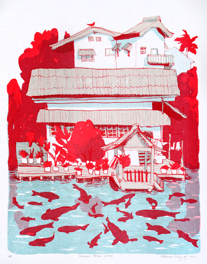 Eleanor Doughty Print, Risograph Brooklyn - Home is where the prints are