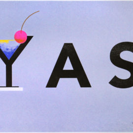 George Chang YAS, Risograph Print, YAS Queen