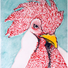 Chicken Exotica Number:5 Tammy Nguyen Print, Risograph