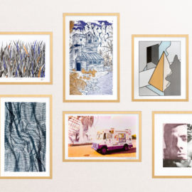Holiday gift package - Art Print