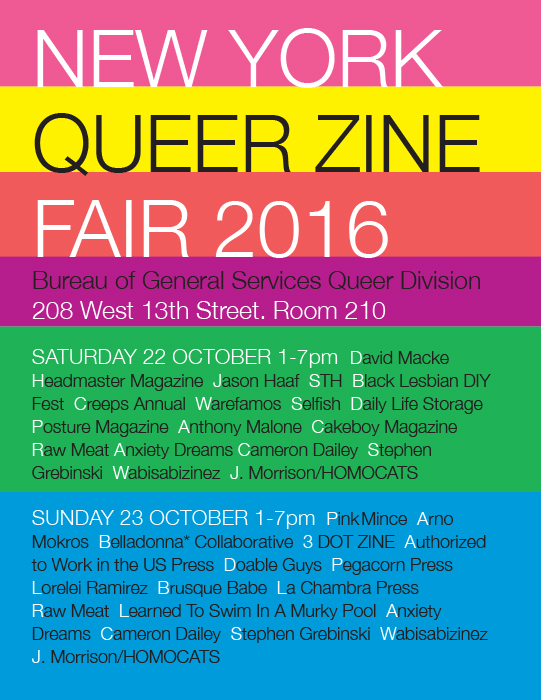 NY Queer Zine Fair 2016