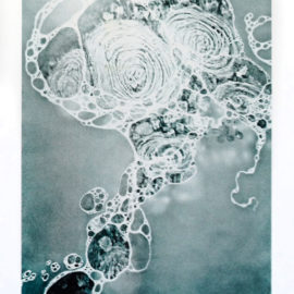 Carla Goldberg Risograph Seafoam print Plexi