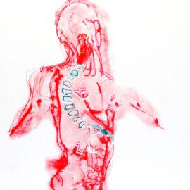 Sarah Allen Eagen Risograph , Anatomy unhinged