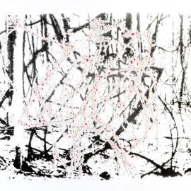Yana Mikho-Misho Risograph Wood Calligraphy Print