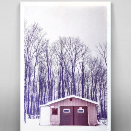 Canadian House Risograph - Winter scene - Winter of 2011 in Quebec, Canada