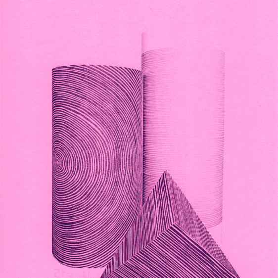 Geometric Shapes, one color risograph