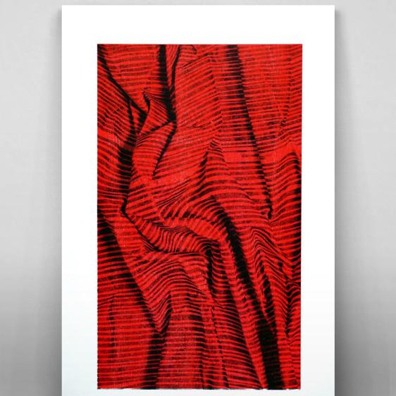 Two layer risograph print