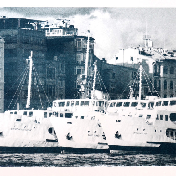 Ferries in Istanbul, before they cross the Bosphorus, from Asia to Europe