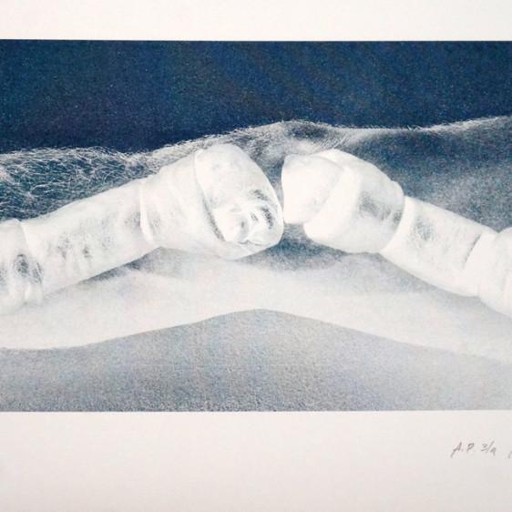 Alejandro Yoshii, Dog Bones, Risograph Print