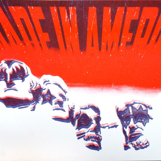 Greg Stone Made in America, 2-color risograph Print, Brooklyn. Authorized to Work in the US