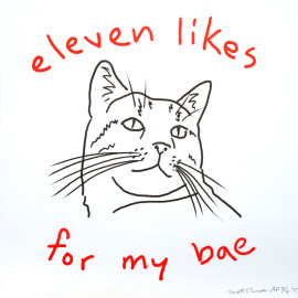 Scott Chase 11 likes for my bae, Risograph Print, OMGwebcats