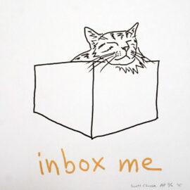 Scott Chasse, inbox me, Risograph Print, OMG webcats