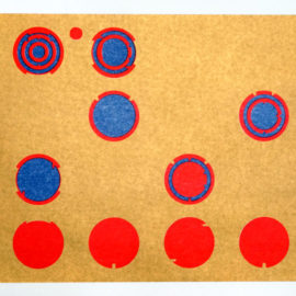 Metallic gold risograph print by Tim Roseborough for Drums on Paper