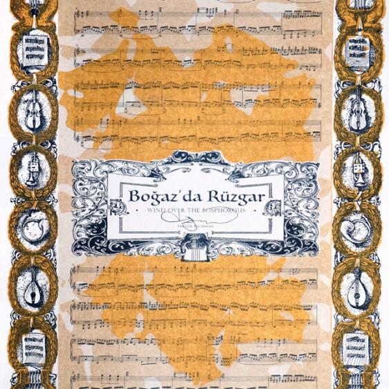 Music by Trevor Bachman, Risograph Print