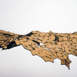 Wyna Liu, Kinetic Sculptor, Risograph Print of a Landscape