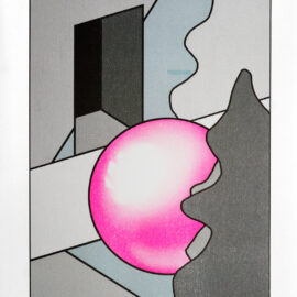 Gazing Ball by Cem Kocyildirim, Brooklyn Risograph printing, Risograph New York