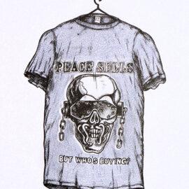 Hector Serna, Megadeth T-shirt, Risograph Print