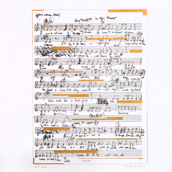 Sheet music by Trevor Bachman, Risograph Print