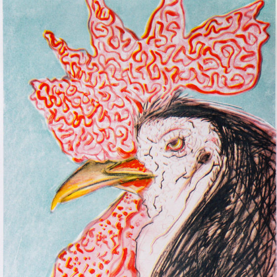 Chicken Exotica Number 6, Tammy Nguyen Print, Risograph