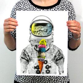 AM DeBrincat print, risograph