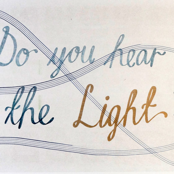 Cecilie Beck Musician Risograph , Do you hear the light?