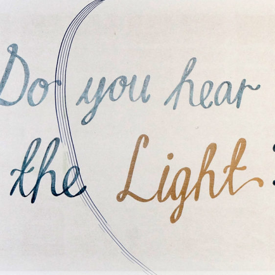 Cecilie Beck Music Risograph , Do you hear the light?