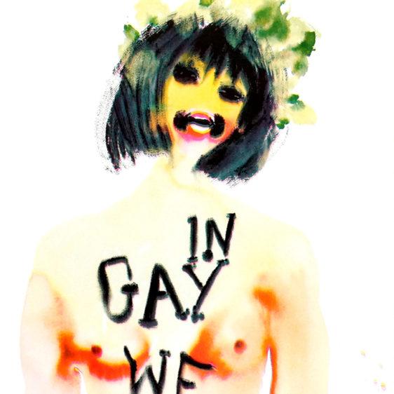 Nadine Faraj Risograph In Gay We Trust, In God We Trust LGBT LGBTQ Print