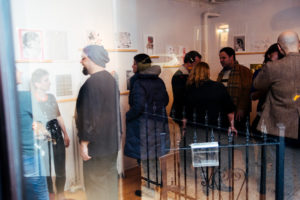 Ground Floor Gallery, Park Slope during Drums on Paper III, organized by Authorized to Work in the US