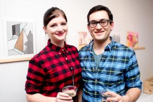 Kate Faehling and Cem Kocyildirim at Drums on Paper III, Ground Floor Gallery, Park Slope
