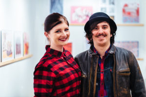 Kate Faehling and James Lagen at Ground Floor Gallery, for Drums on Paper III