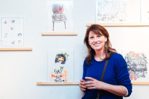 Donna Troy Cleary at Drums on Paper III - Risograph print show in Park Slope, Brooklyn,