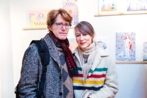 Sky Pape and her guest at Drums on Paper III