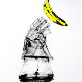Astronaut Banana AM DeBrincat Print, Risograph