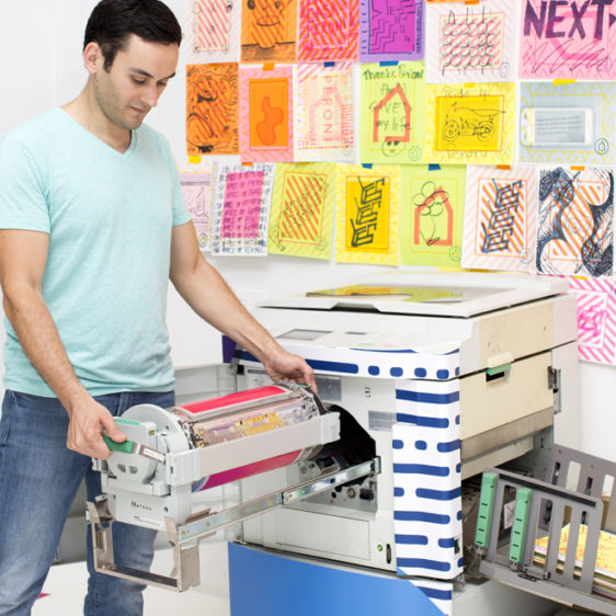 Artists, Self-Publishing, House of Peroni NYC, curated by St. Vincent, Risograph Workshop Cem Kocyildirim Color Drum Change