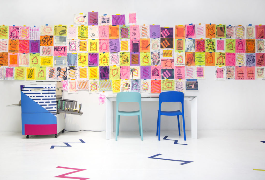 House of Peroni NYC Pop Up, St. Vincent, Risograph workshop, Industry City printing