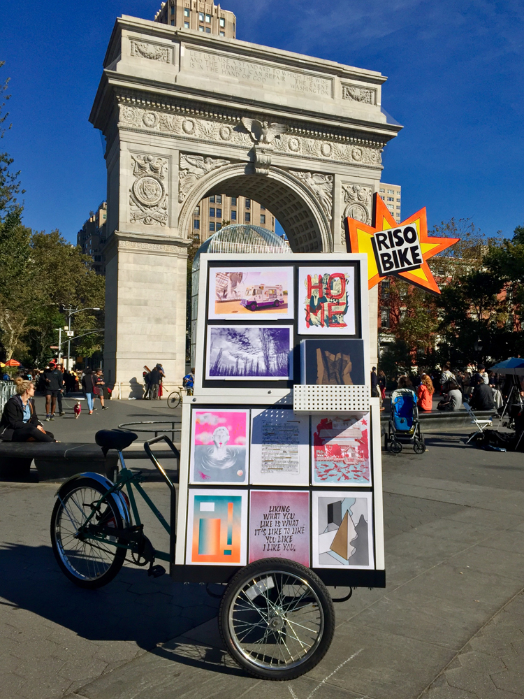 Riso Bike at Washington Square Park on a sunny day