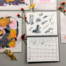 2018 wall calendar, Riso Printed, Sam Schanwald