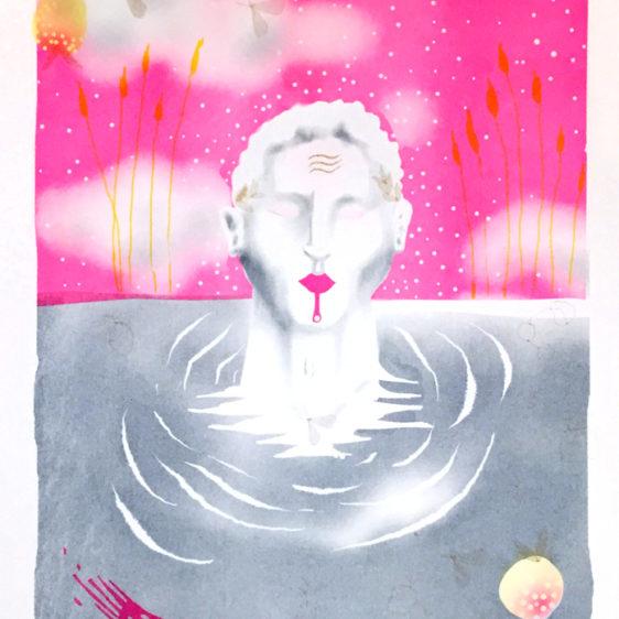 Sam Schanwald Narcissus, Risograph Print, Industry City, Brooklyn