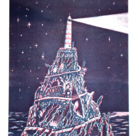 Sonny Ross LightHouse Risograph print