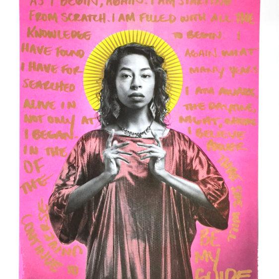 Kia Labeija, Queer Icons, Gabriel Garcia Roman Print, Risograph