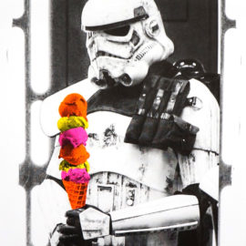 Stormtrooper IceCream Print, Star wars print, Risograph, Fan Art