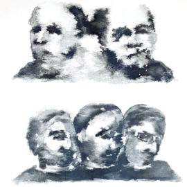 Yagmur Yoruk Triplets, mural painter, risograph print